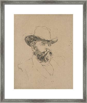 Robert Barr Framed Print by James Abbott McNeill Whistler