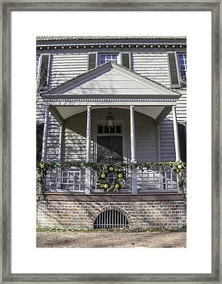 Robert Carter House Porch 02 Framed Print by Teresa Mucha
