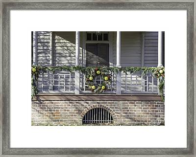 Robert Carter House Porch 03 Framed Print by Teresa Mucha