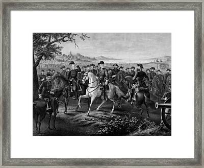 Robert E. Lee And His Generals Framed Print by War Is Hell Store