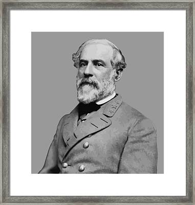 Robert E Lee - Confederate General Framed Print by War Is Hell Store