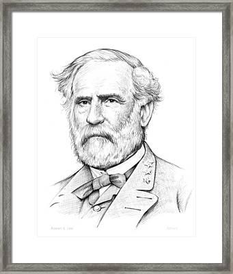 Robert E. Lee Framed Print by Greg Joens