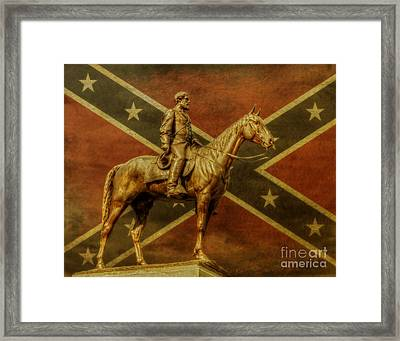 Robert E Lee Statue Gettysburg Framed Print by Randy Steele