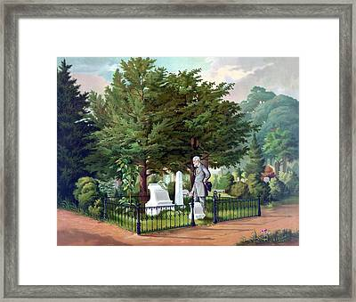 Robert E. Lee Visits Stonewall Jackson's Grave Framed Print by War Is Hell Store