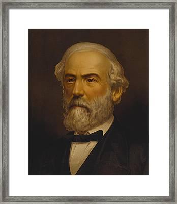 Robert E Lee Framed Print by War Is Hell Store