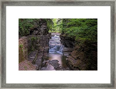 Robert H. Treman State Park Canal 2 Ithaca Ny Framed Print by Toby McGuire