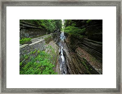 Robert H. Treman State Park Canal Ithaca Ny Framed Print by Toby McGuire