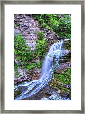Robert H. Treman State Park Flowing Water Ithaca Ny Framed Print by Toby McGuire