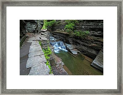 Robert H. Treman State Park Walkway Ithaca Ny Framed Print by Toby McGuire