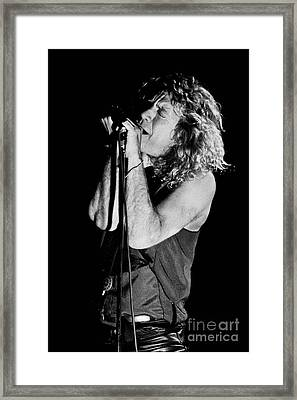 Robert Plant-0040 Framed Print by Timothy Bischoff