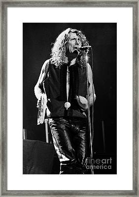 Robert Plant-0064 Framed Print by Timothy Bischoff