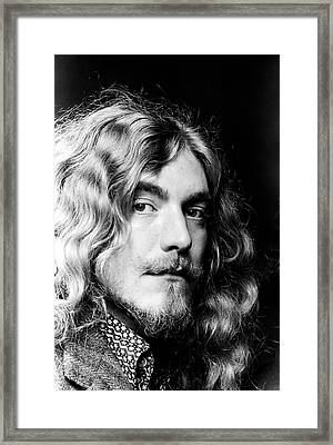 Robert Plant Led Zeppelin 1971 Framed Print by Chris Walter