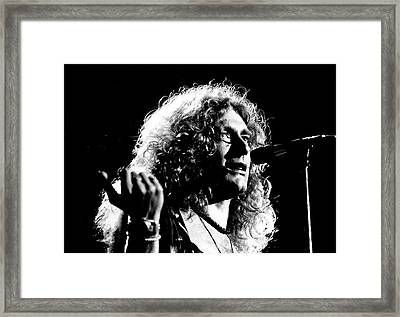 Robert Plant 1975 Framed Print by Chris Walter