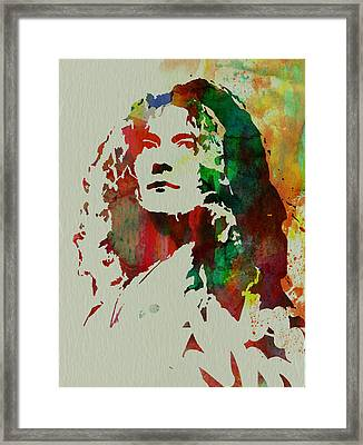 Robert Plant Framed Print by Naxart Studio