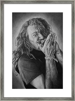 Robert Plant Framed Print by Steve Hunter