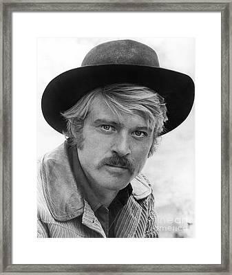 Robert Redford (1936-) Framed Print by Granger
