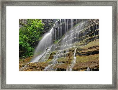 Robert Treman Sp Upper Lucifer Falls Framed Print by Dean Hueber