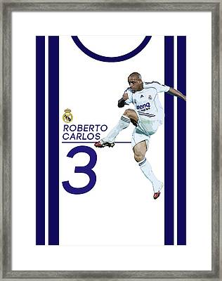 Roberto Carlos Framed Print by Semih Yurdabak