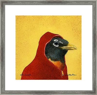 Robin Hoodie... Framed Print by Will Bullas
