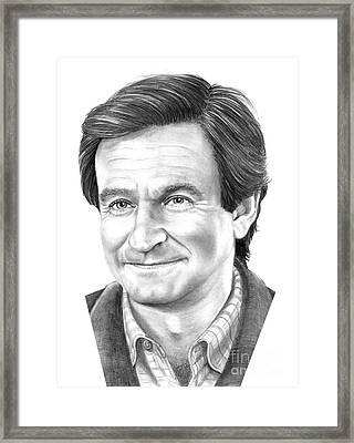 Robin Williams Framed Print by Murphy Elliott