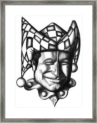 Robin Williams Framed Print by Robert Shoemaker IV