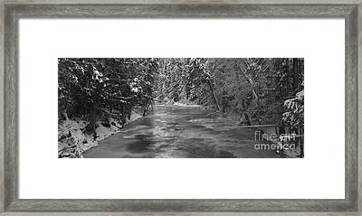 Robson River Black And White Framed Print by Adam Jewell