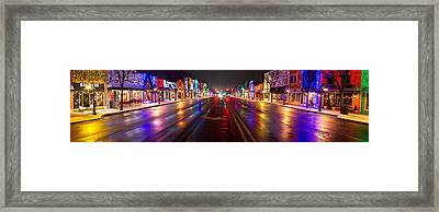 Rochester Christmas Light Display Framed Print by Twenty Two North Photography