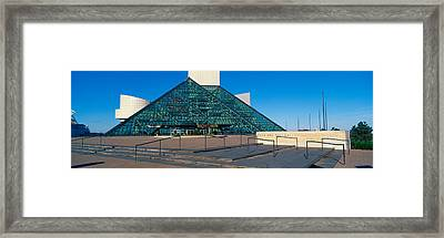 Rock And Roll Hall Of Fame Museum Framed Print by Panoramic Images