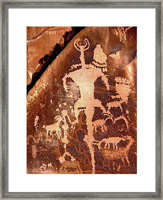 Rock Art Of The Ancients Framed Print by The Forests Edge Photography - Diane Sandoval