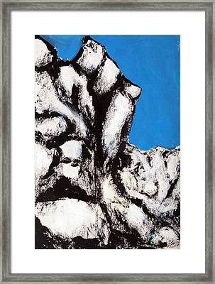 Rock Face Framed Print by Rob Woods