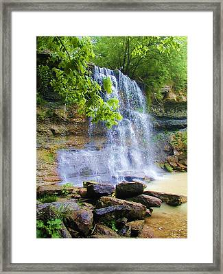 Framed Print featuring the photograph Rock Glen by Rodney Campbell