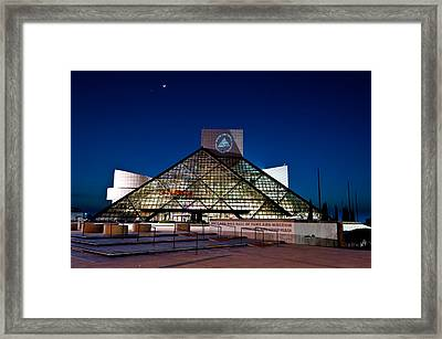 Rock Hall At Night Framed Print by At Lands End Photography