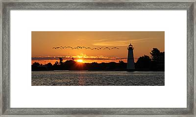 Rock Island Lighthouse Framed Print by Lori Deiter