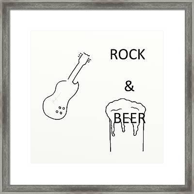 Rock N Beer Framed Print by Valhalla Warrior Photography