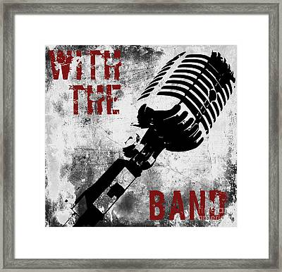 Rock N Roll Microphone  Framed Print by Mindy Sommers