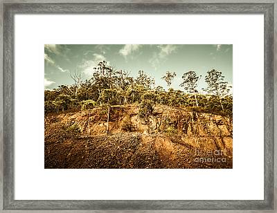 Rock Quarry Landscape Framed Print by Jorgo Photography - Wall Art Gallery