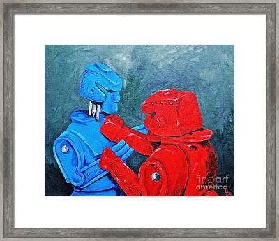 Rockem - Sockem Framed Print by Herschel Fall