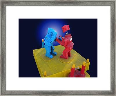 Rockem Sockem Robots Toy Framed Print by Thomas Woolworth