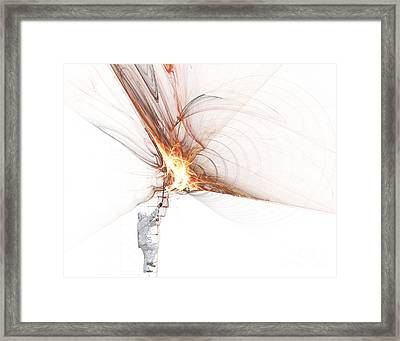 Rocket Propulsion Ignition Framed Print by Jan Piller
