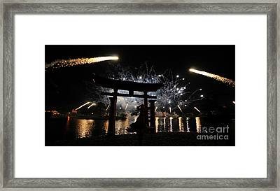 Rockets Red Glare Framed Print by David Lee Thompson