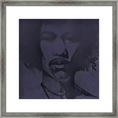 Rockface Hendrix Framed Print by Armando Heredia