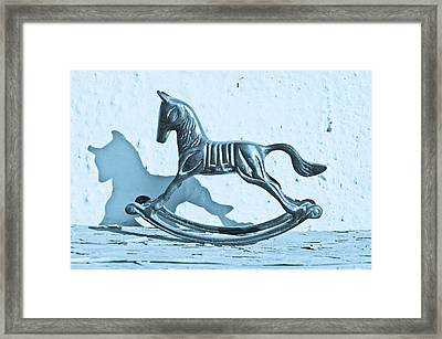 Rocking Horse Framed Print by Tom Gowanlock
