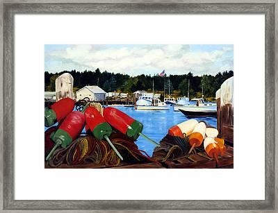 Rockland Harbor Framed Print by Laura Tasheiko