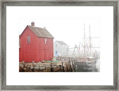 Rockport Fog Framed Print by Susan Cole Kelly