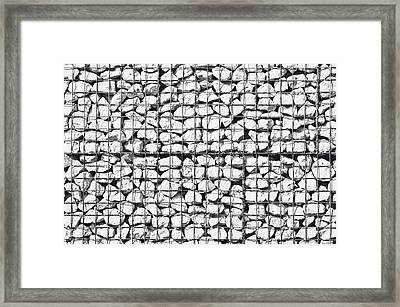 Rocks In A Cage Framed Print by Tom Gowanlock