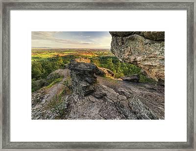 Rocks Of Sharon Overlook Framed Print by Mark Kiver