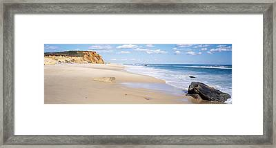 Rocks On The Beach, Lucy Vincent Beach Framed Print by Panoramic Images