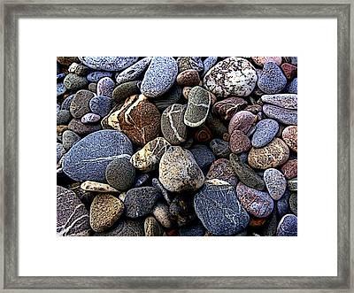 Rocks Framed Print by Roberto Alamino