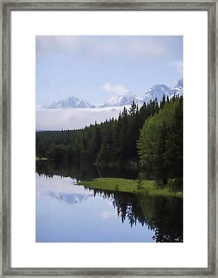Rockwall Lake - Kananaskis Country Framed Print by Jordan Blackstone