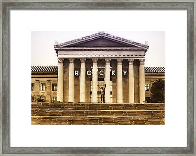 Rocky Balboa On The Art Museum Steps Framed Print by Bill Cannon